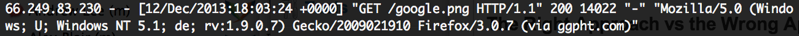 Google HTTP Hit