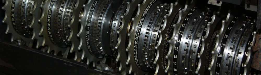 Mechanical encryption wheels (PD; from Wikimedia Commons)