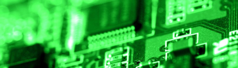 Green circuit board. Photo by dhester on Morguefile; free usage but can't claim authorship.