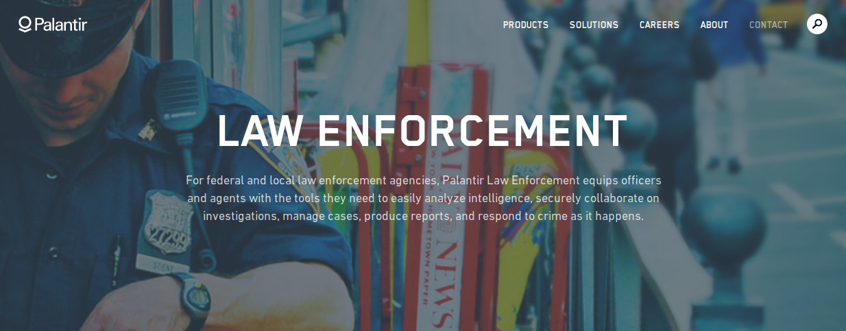 Privacy issues with Palantir's move into law enforcement