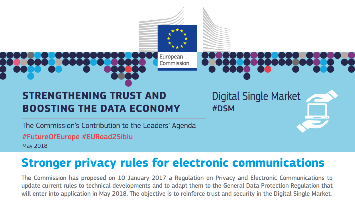 Beyond the GDPR: here comes the EU's ePrivacy regulation – but not yet