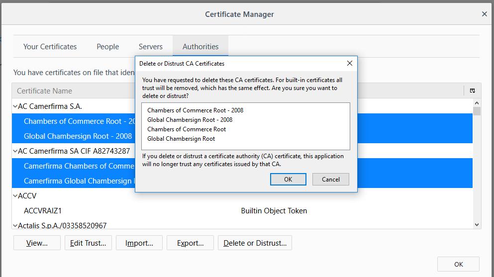 SSL Certificate in Firefox