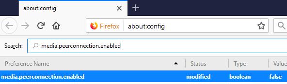 Disable WebRTC