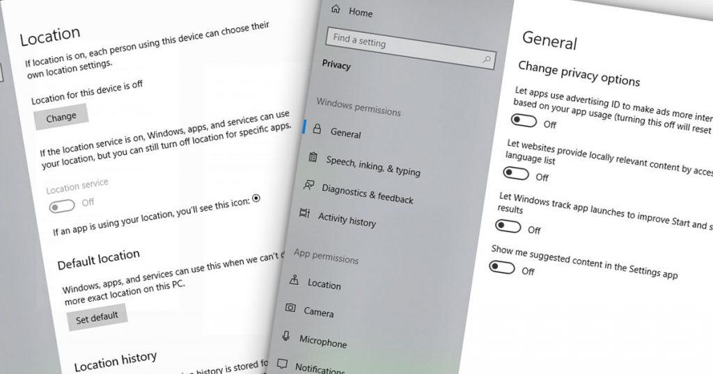 Windows Privacy Settings