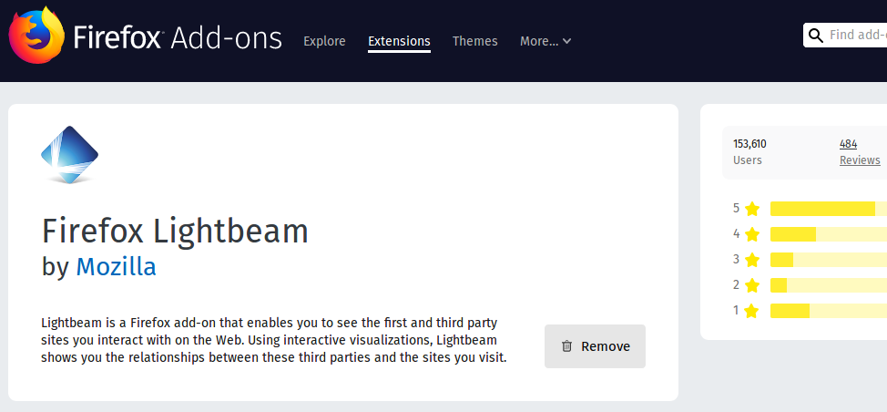 Firefox Lightbeam – Visually Seeing the Benefits of Privacy in Real Time
