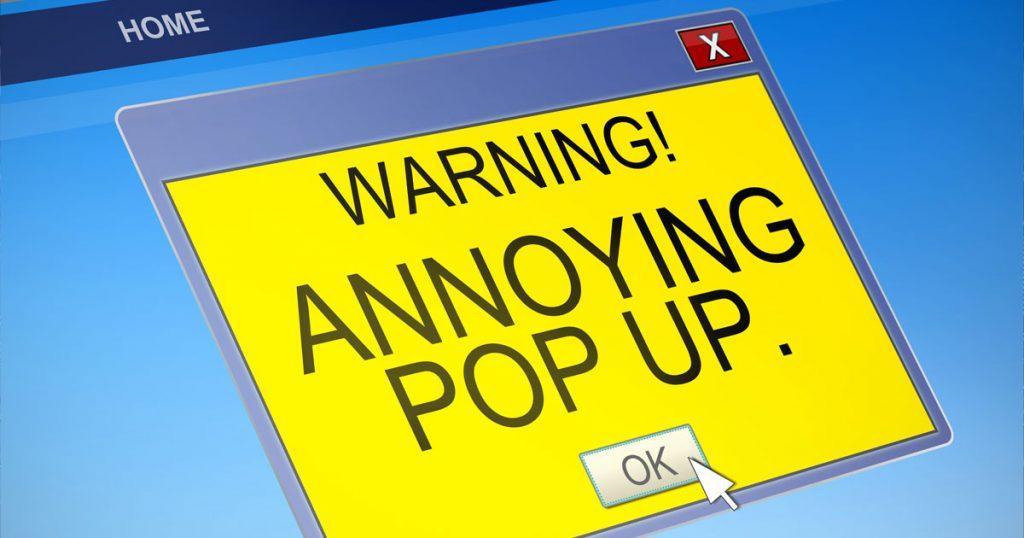 adware pop up