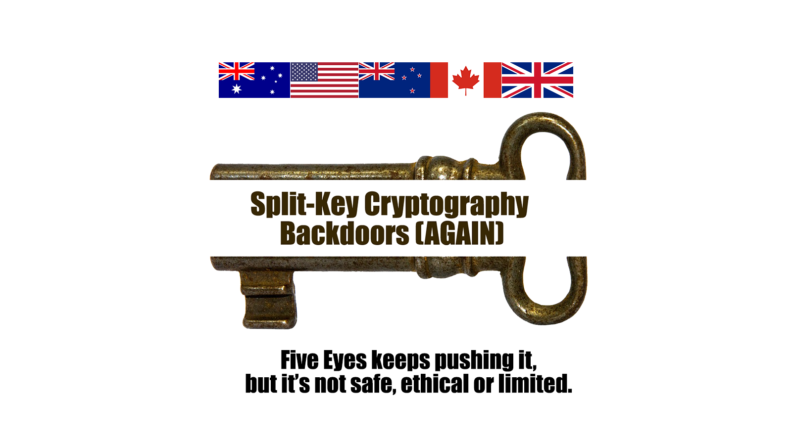 Split Key Cryptography is Back… Again – Why Government Back Doors Don't Work