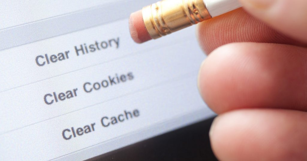delete cache, cookies and web history from Google Chrome