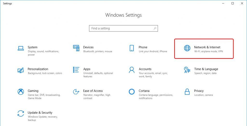 Update DNS settings on Windows 10 - Step 2