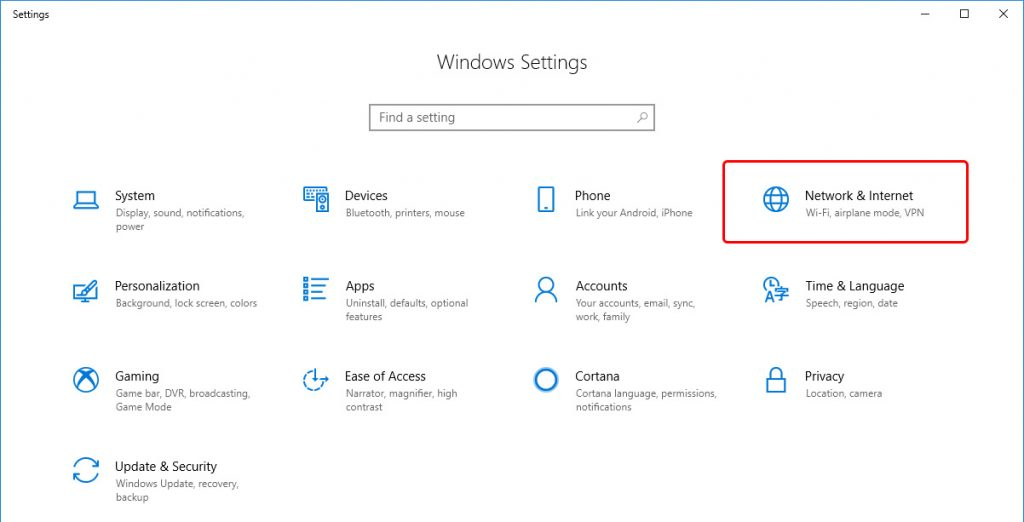 Update DNS settings on Windows 10 - Step 2