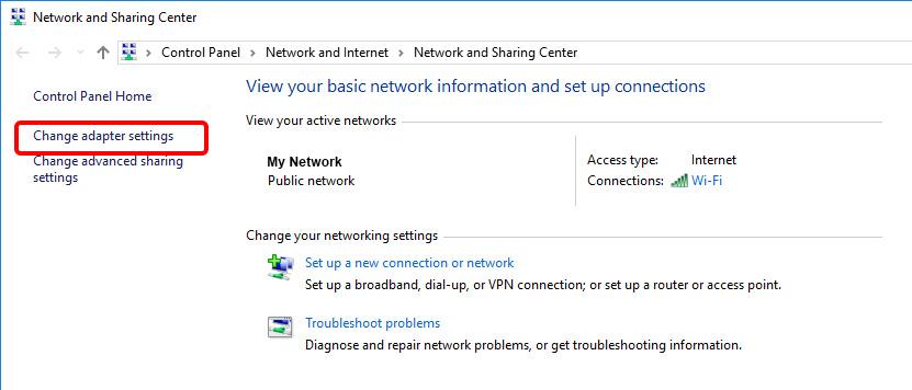 Update DNS settings on Windows 10 - Step 4