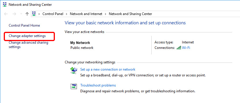 Update DNS settings on Windows 10 - Step 4