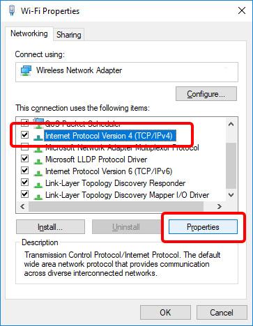 Update DNS settings on Windows 10 - Step 6