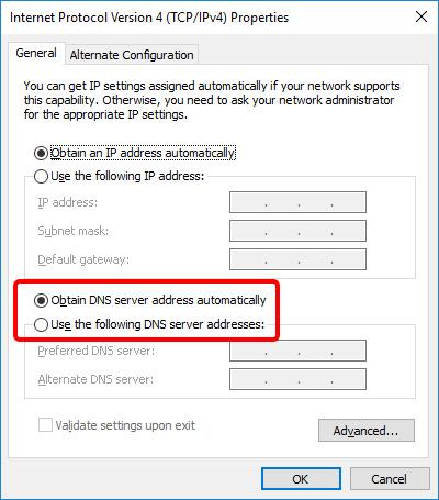 Update DNS settings on Windows 10 - Step 7