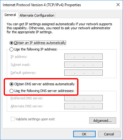 Update DNS settings on Windows 10 - Step 7