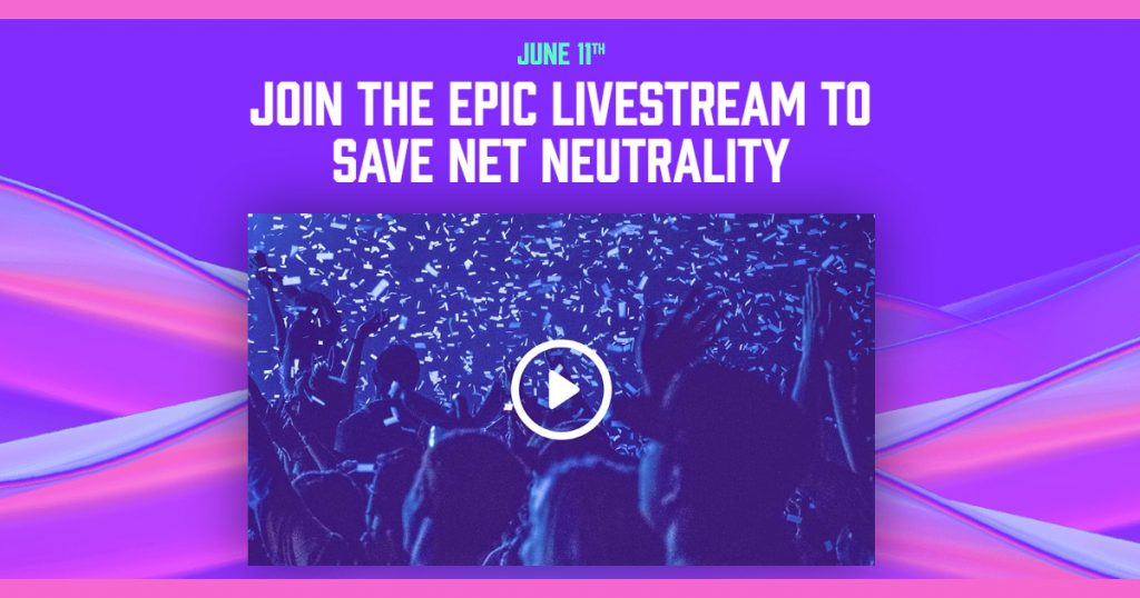 Join the Epic Livestream to Save Net Neutrality