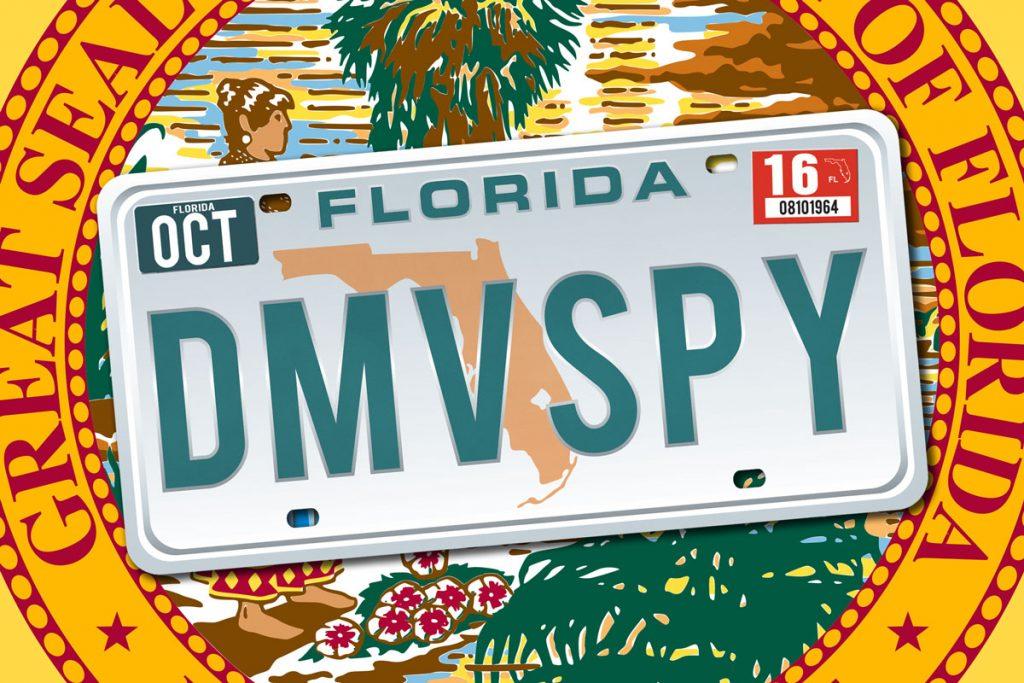"""""""DMV SPY"""" License Plate"""