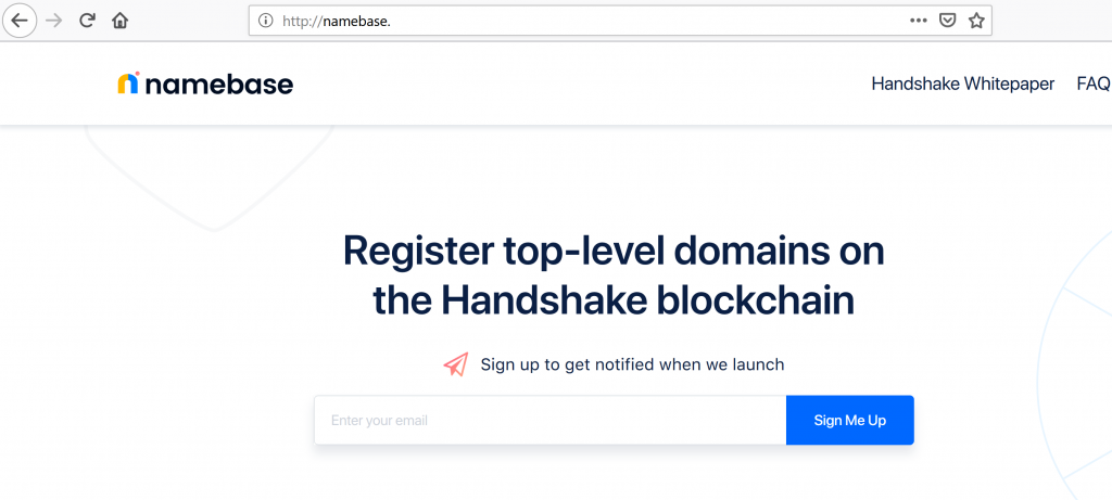 namebase resolved with hns