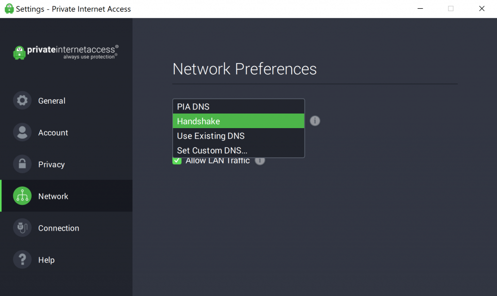 private internet access pia client handshake