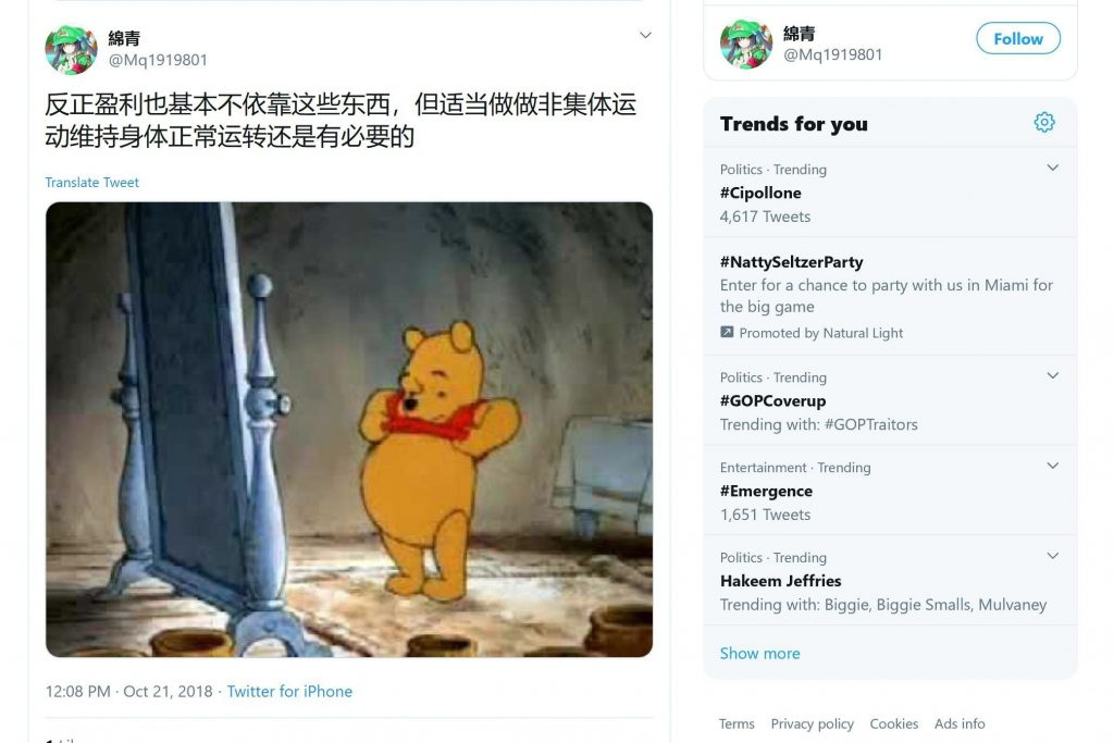 xi jinping memes winnie da pooh posted in the united states that got chinese student arrested.jpg